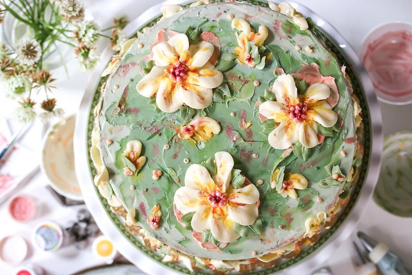 Lemon Elderflower Buttercream Birthday C
