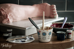 The making of JIGSAW Movie Severed Leg Cakes