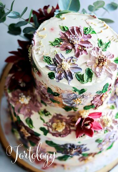 Toffee Italian Meringue Celebration Cake