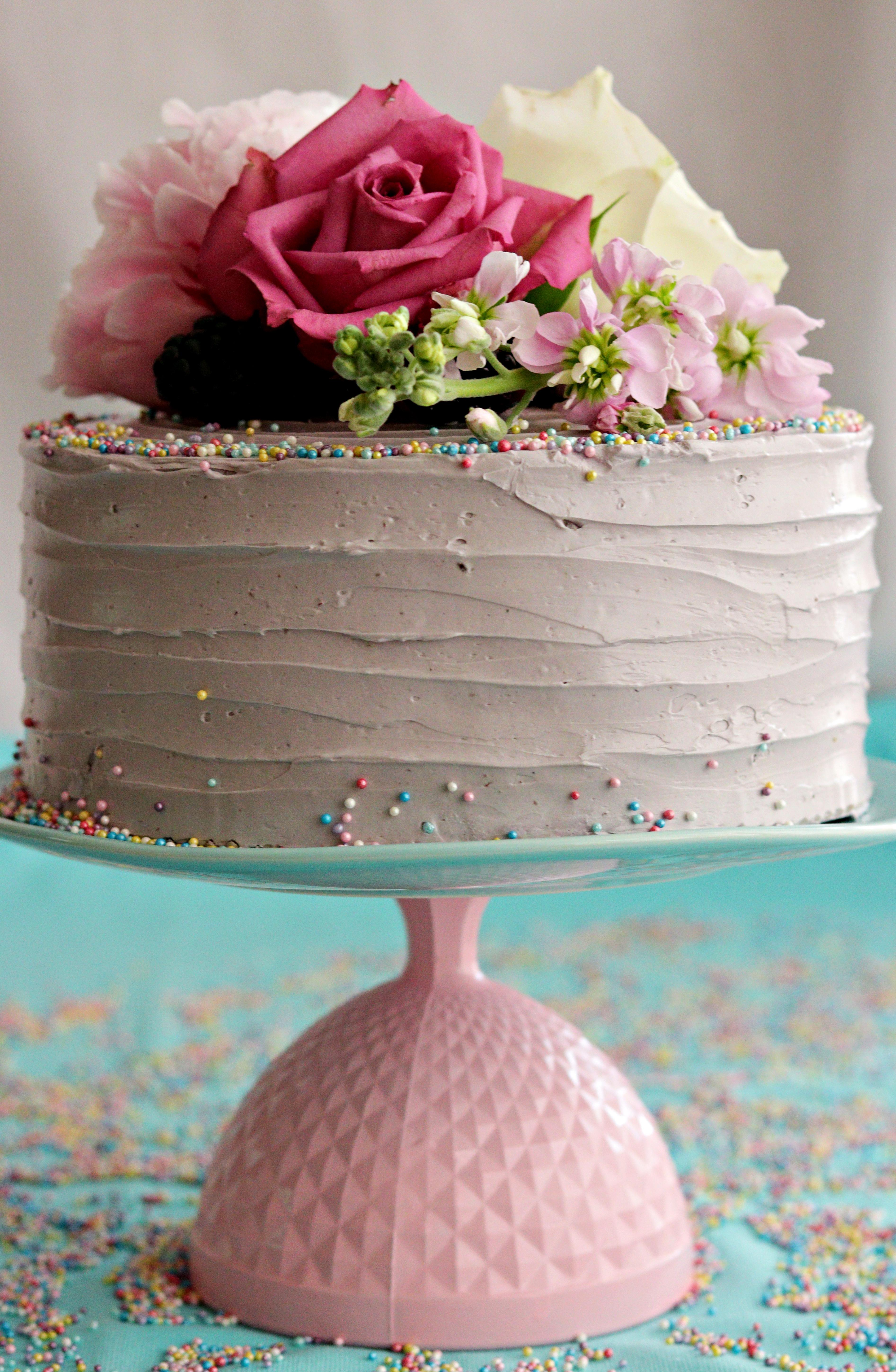 Chocolate Lavender Cake Tortology