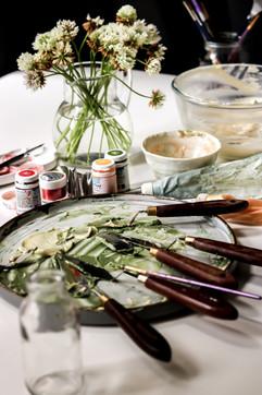 Palette Knife Buttercream Artwork. Lemon Elderflower Birthday Cake Tortology E17 Artisan Cakes London