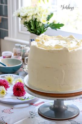 Making of the Lemon & Elderflower Cake