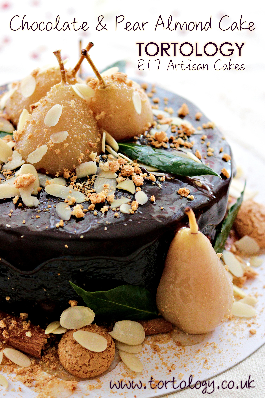 Chocolate & Pear Almond Cake Tortology E17 Artisan Cakes