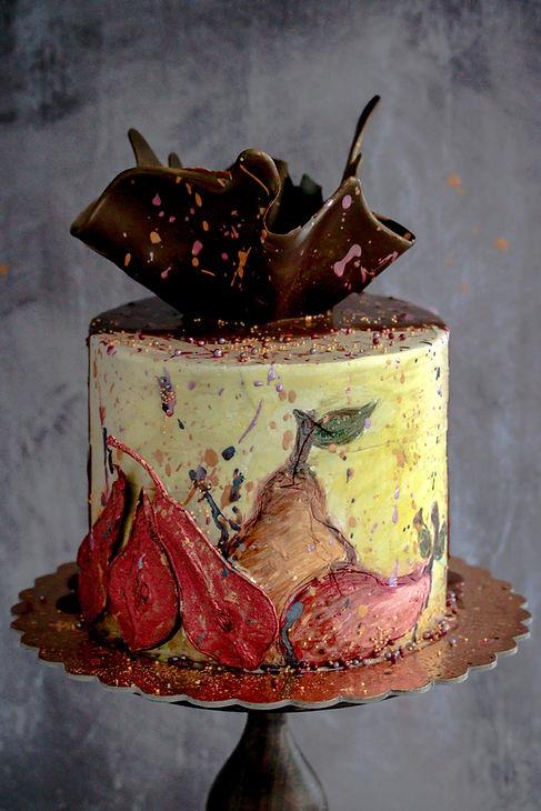Chocolate Pear Amaretto Cake Tortology E
