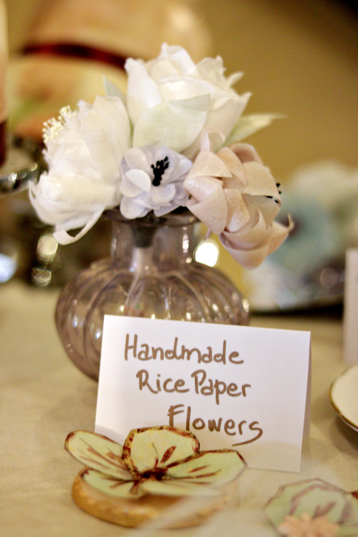 Rice Paper Flowers Tortology