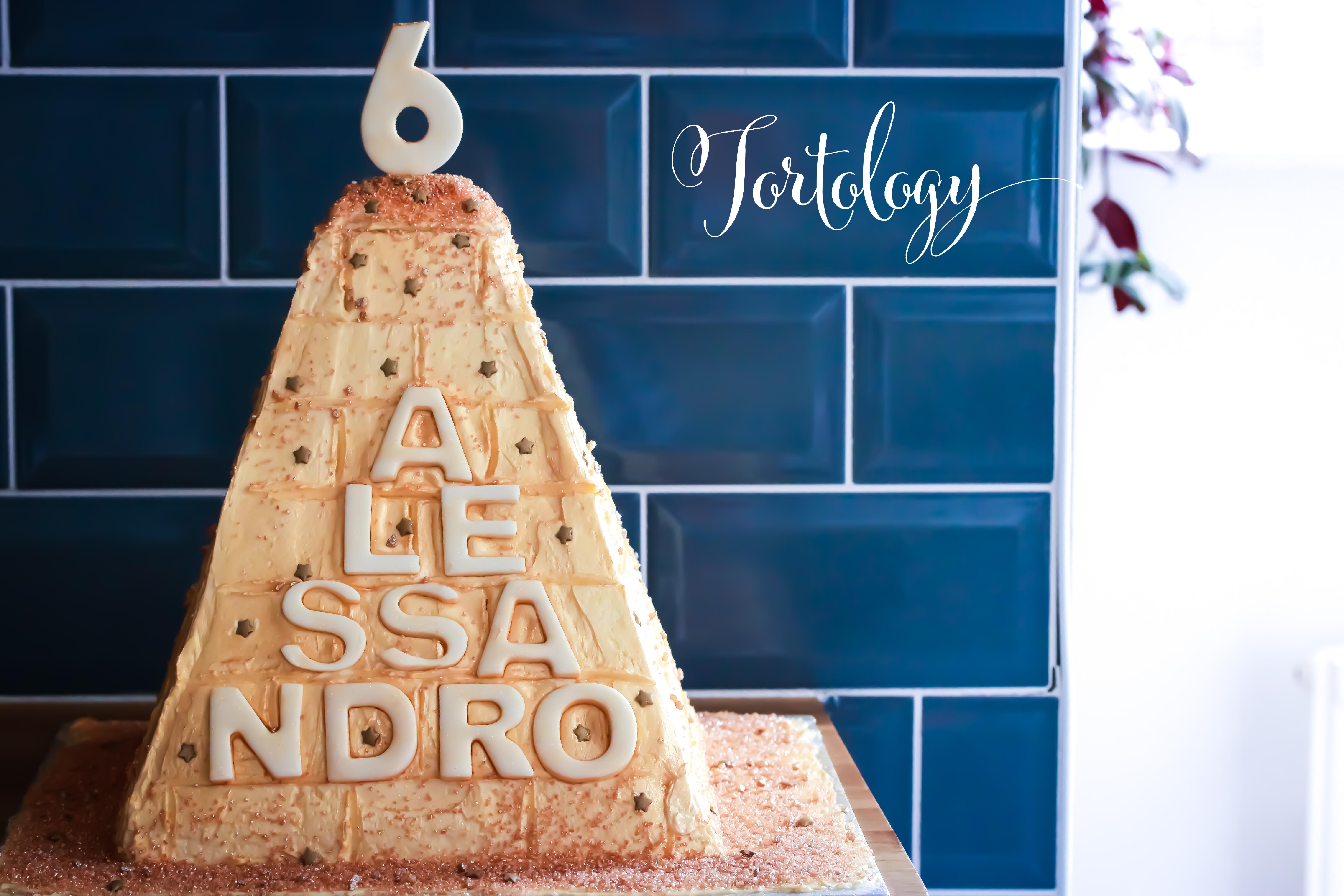Pyramid Birthday Cake Tortology