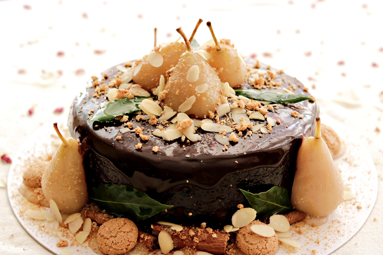 Chocolate & Pear Almond Cake Tortology