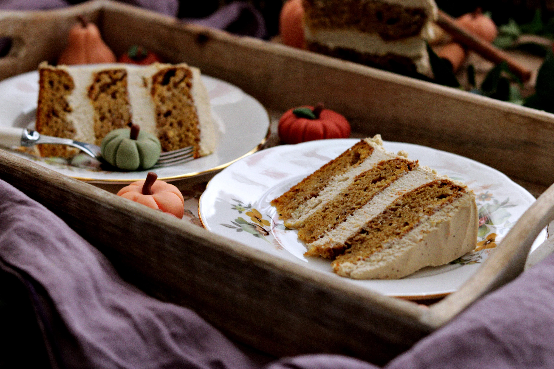 Pumpkin Spice Latte Cake Slices Tortology