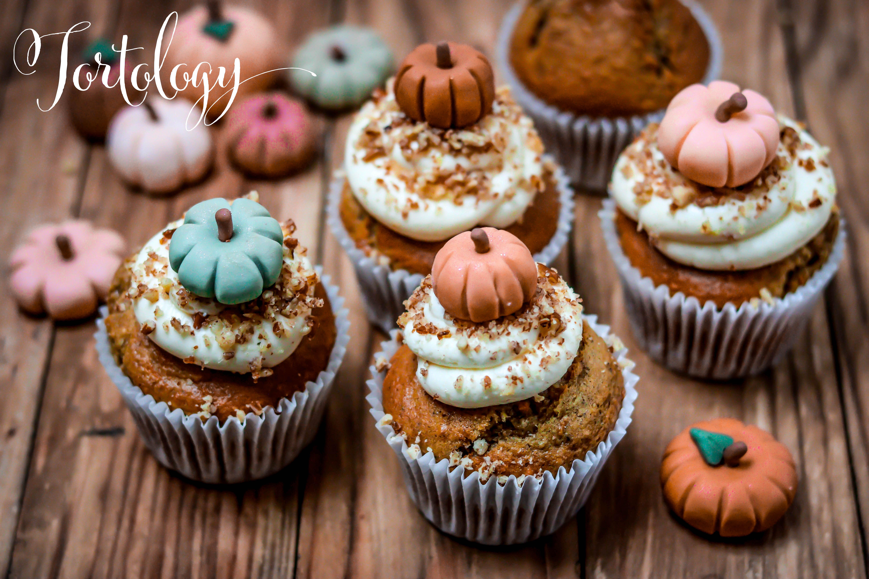 Carrot Pumpkin Pecan Cupcakes