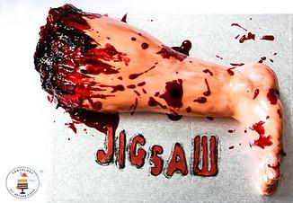JIGSAW Movie Release Severed Leg Cakes