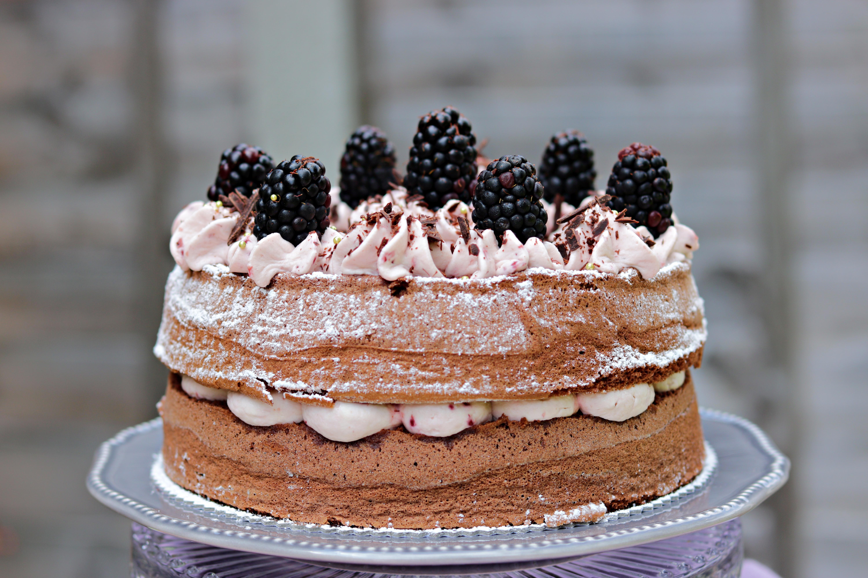 Chocolate Buckwheat Blackberry Cake Tortology