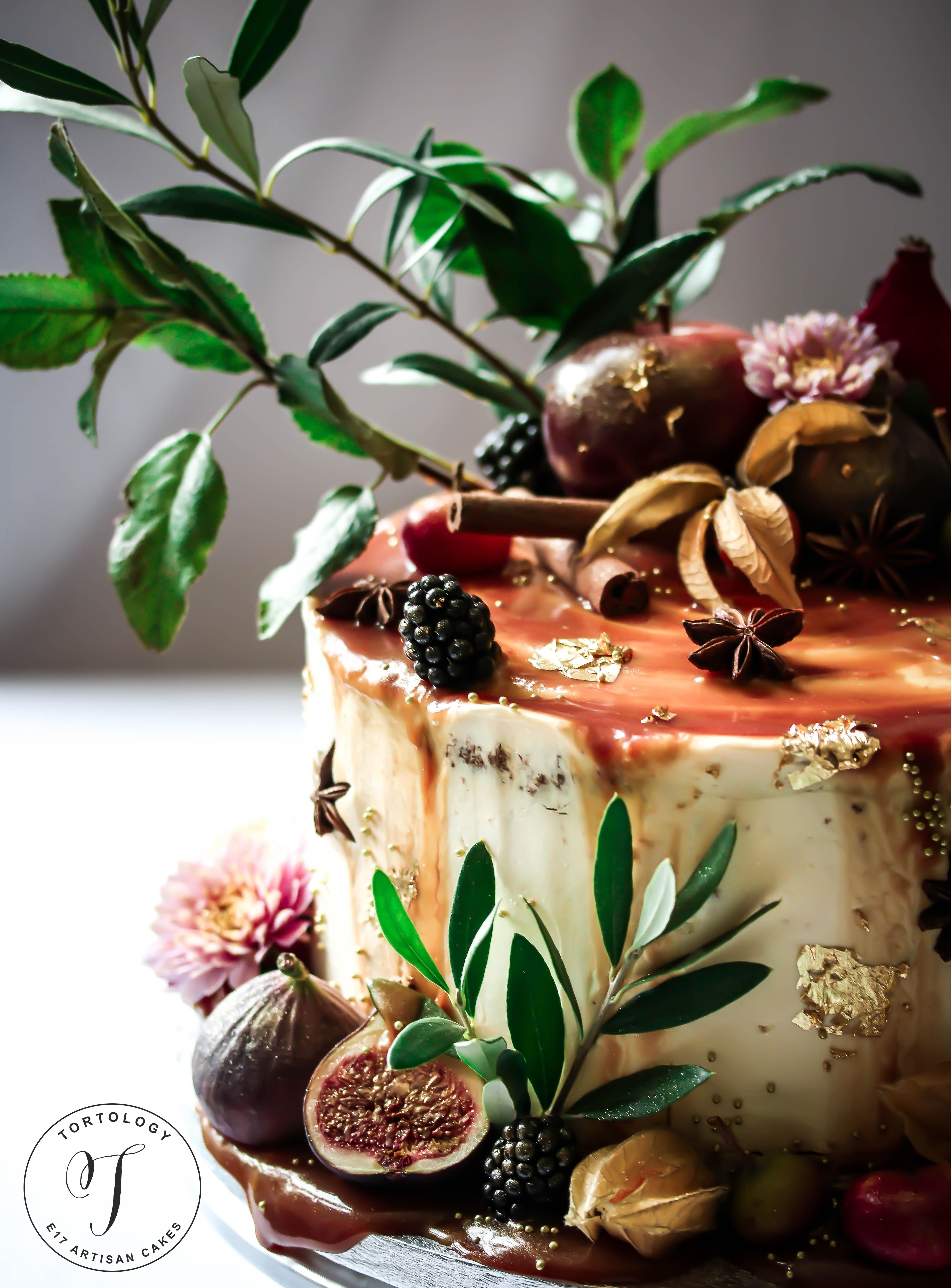Apple Toffee Birthday Cake Tortology