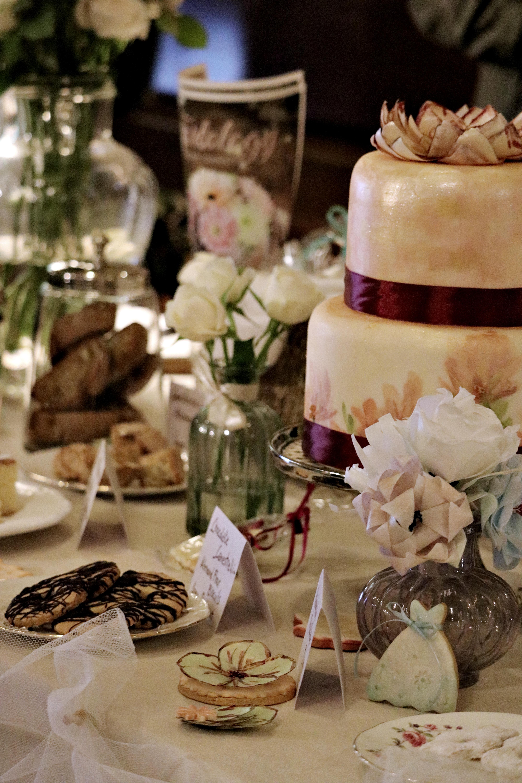 Painted Cake & Cookies
