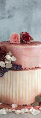 Red Velvet & Rose Rhubarb Cake Tortology E17 Artisan Cakes London