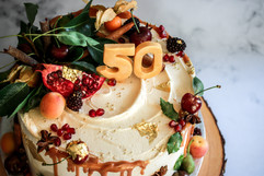 Apple & Rhubarb Birthday Cake Tortology E17 Artisan Cakes