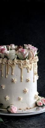 White Chocolate Macaroon & Rose Cake Tortology E17 Artisan Cakes London