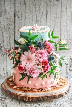 Two-tiered Birthday Cake Tortology E17 Artisan Cakes London