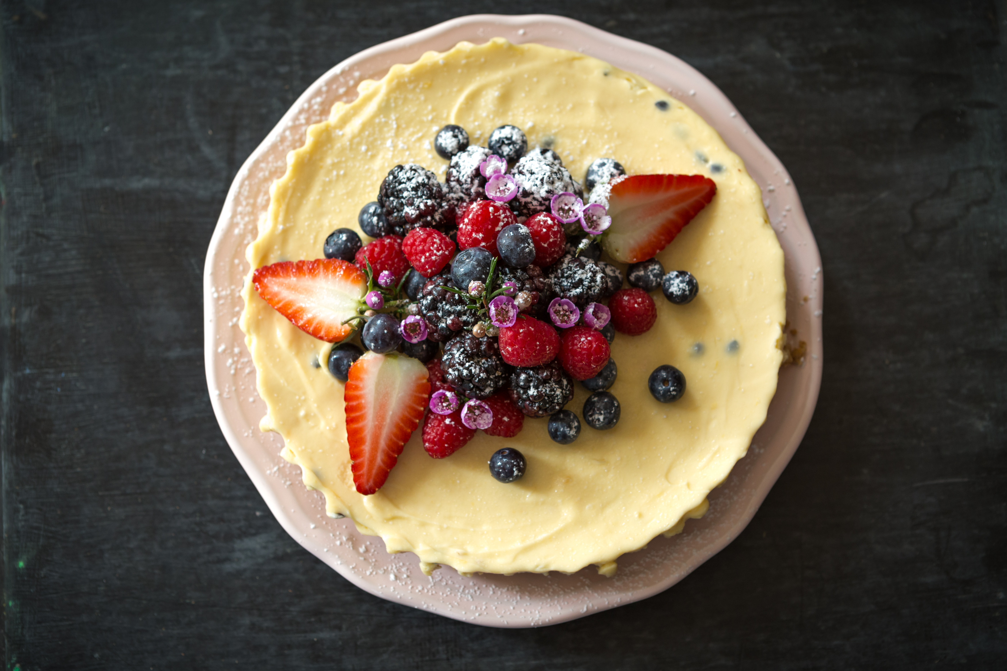 Passion Fruit Cheese Cake with Summer Berries Miss Tortology E17 Artisan Cakes
