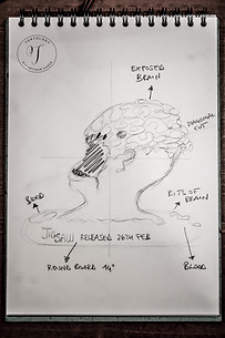 JIGSAW Movie Severed Head Cakes Sketch Drawing