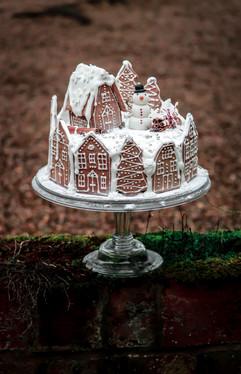 Christmas Cake Walnut Tree House Tortology 1.jpg