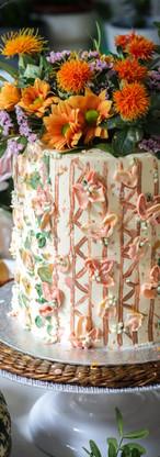 Banana Caramel Floral Birthday Cake Tortology E17 Artisan Cakes London