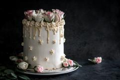 White Chocolate Macaroon & Rose Celebration Cake Tortology E17 Artisan Cakes London