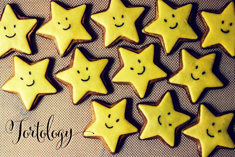 Gingerbread & Marzipan Star Cookies Tortology Logo