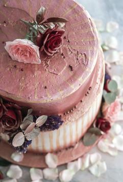 Red Velvet & Rose Rhubarb Celebration Cake Tortology E17 Artisan Cakes London