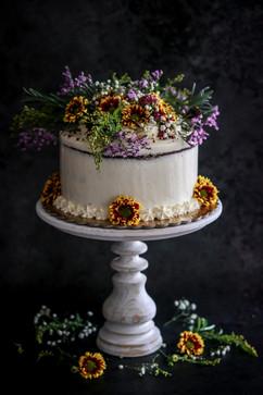 Small Autumnal Wedding Cake Tortology E17 Artisan Cakes London