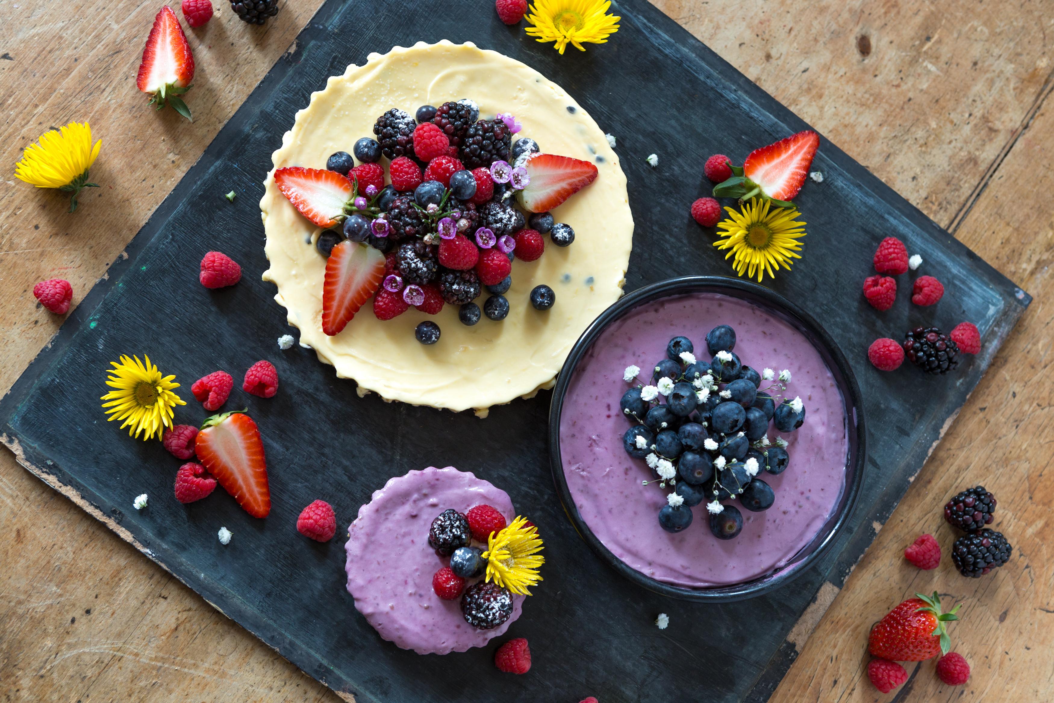 Passion Fruit & Blueberry Cheese Cakes Miss Tortology E17 Artisan Cakes