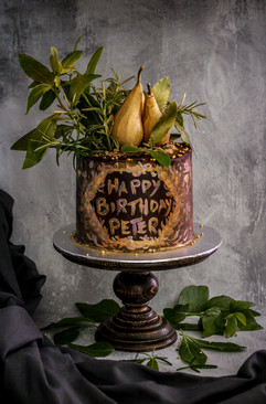 Pear & Chocolate Birthday Cake Tortology E17 Artisan Cakes London