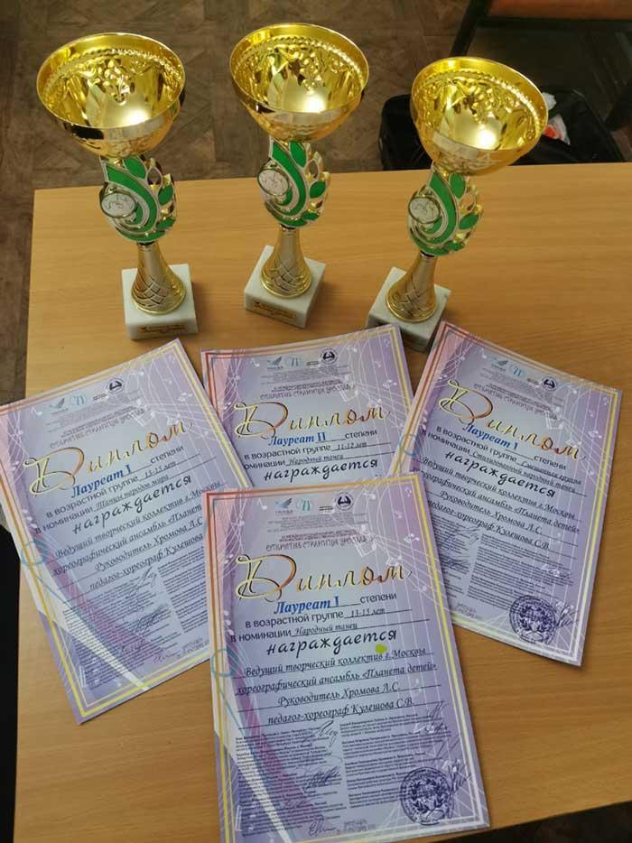 Дипломы лауреатов 1 и 2 степени