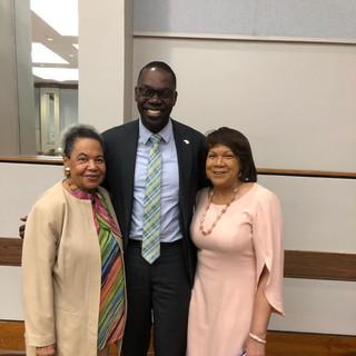 Mrs. E. Whitten, Lt. Gov. Gilchrist & Dr. Wanda Shurney