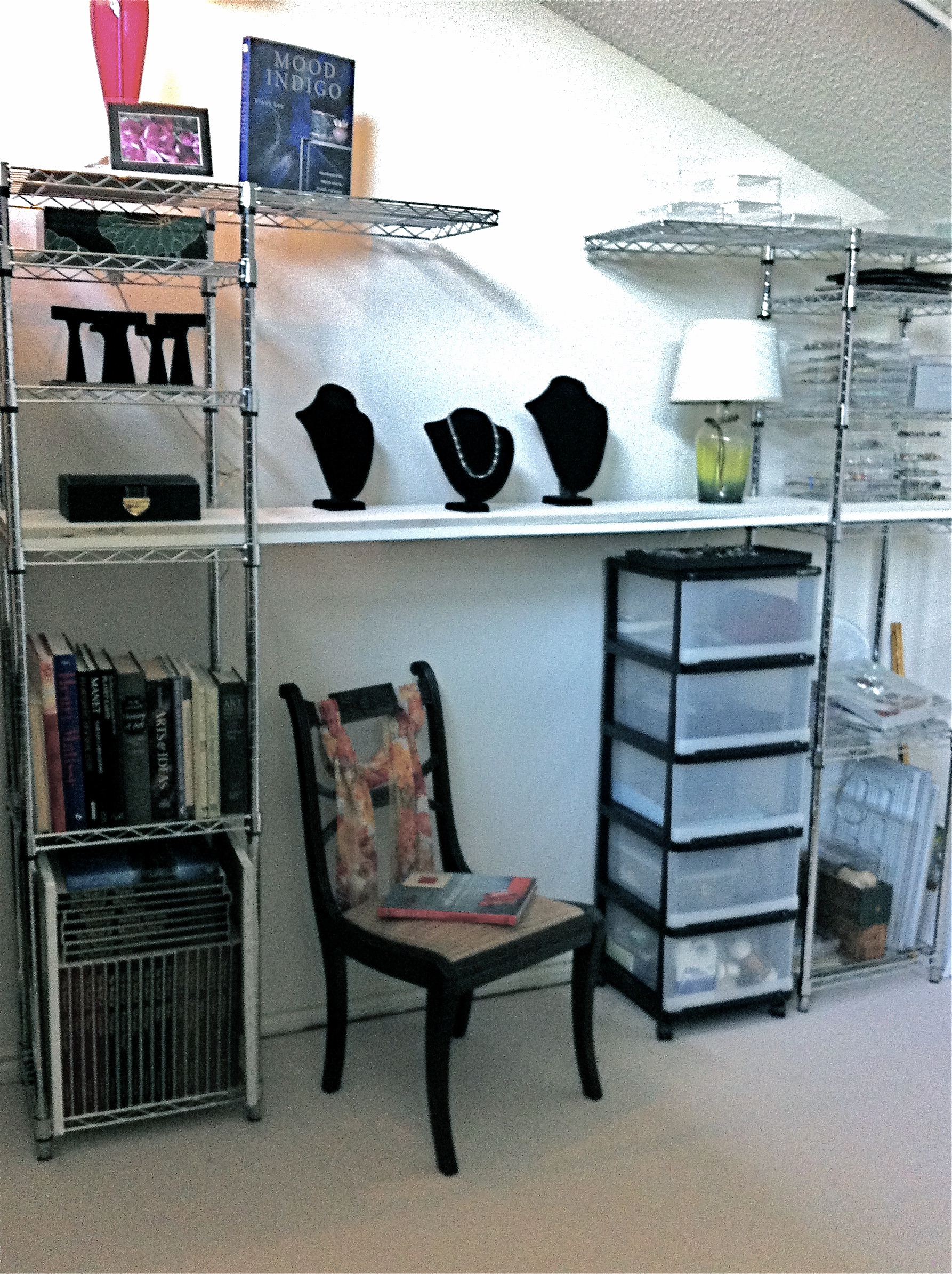 Pairing materials with needs resulted in jeweler's workroom and display area.