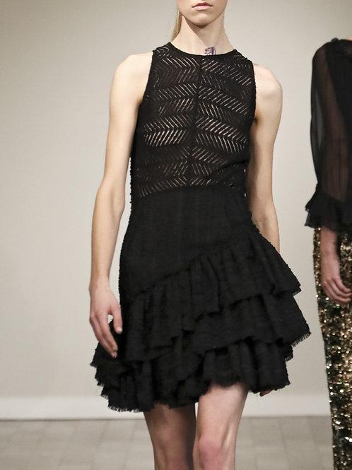 F240L20 Lace/Tweed Halter dress