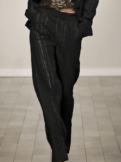 F660T20 Wool gauze tweed pant