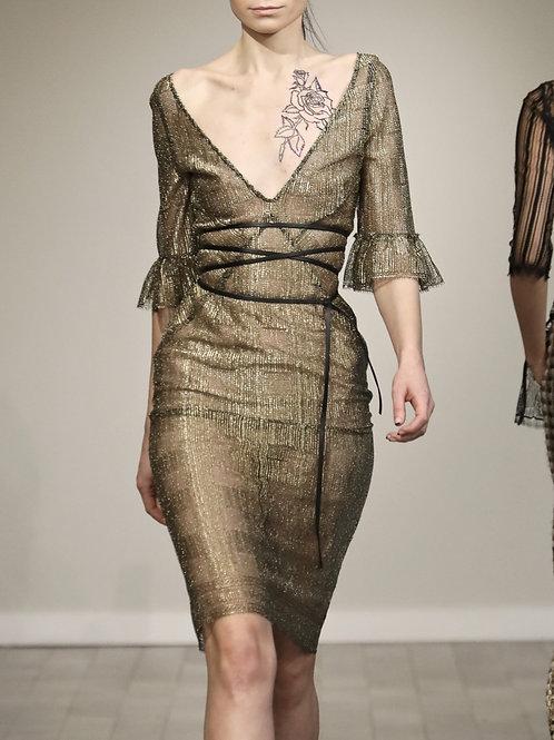 F275L20 Gold Lace dress