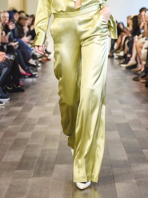S660S20.Satin wide pant