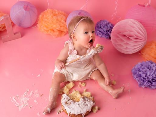 Pink Cake Smash for Mara <3 | Professional Photographer | Lichfield Staffordshire