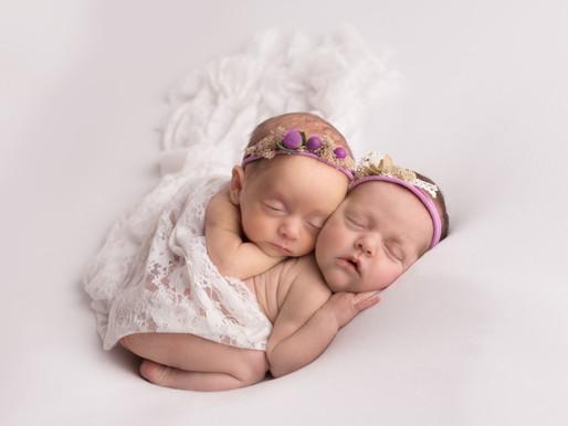 Newborn twins photoshoot in Lichfield, Staffordshire