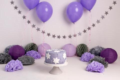 Cake smash purple