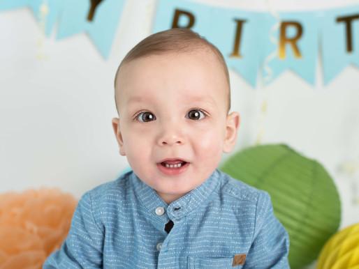 Ari's First Birthday Photo Session | Lichfield Photographer | Cake Smash Lichfield, Staffordshir