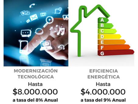Préstamos de hasta 8 millones a tasa del 8% de interés para Modernización y eficiencia