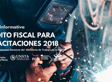 """Charla abierta: """"Crédito Fiscal para Capacitaciones 2018"""""""