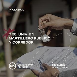 Tec. Univ. en Martillero Público y Corredor