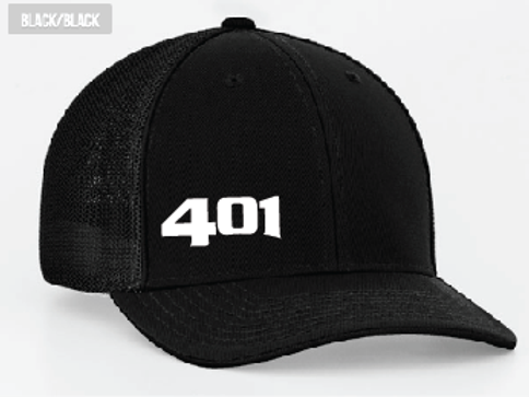 401 Black Trucker Hat
