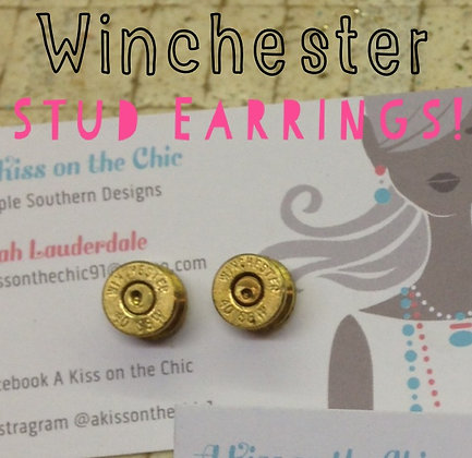 Winchester 40 Cal Stud Earrings