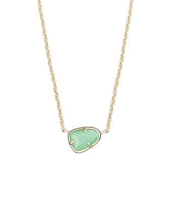 Hayden Pendant Necklace in Mint