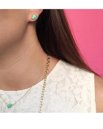 Hazel Stud Earrings in Mint