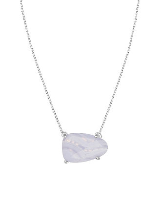 Isla Necklace in Blue Lace Agate